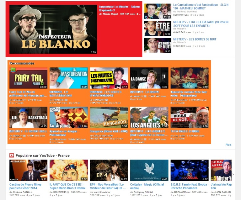 Homepage YT