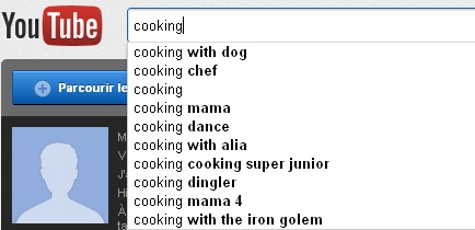 youtube search coocking